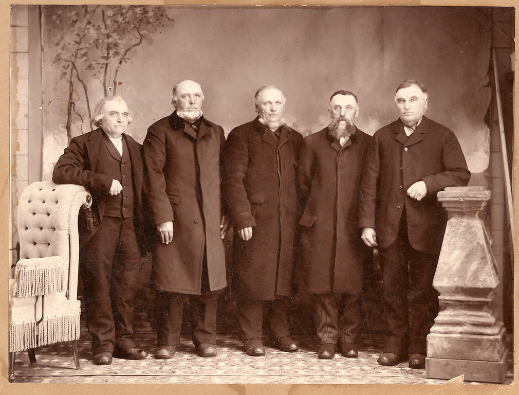 Clemens Boeckenstedt, b. 1838 in Steinfeld Germany (center) is my paternal grandfather's father, or my great grandfather.  He is pictured here with his brothers, from l to right: Frank, Henry, Arnold, and Anton.